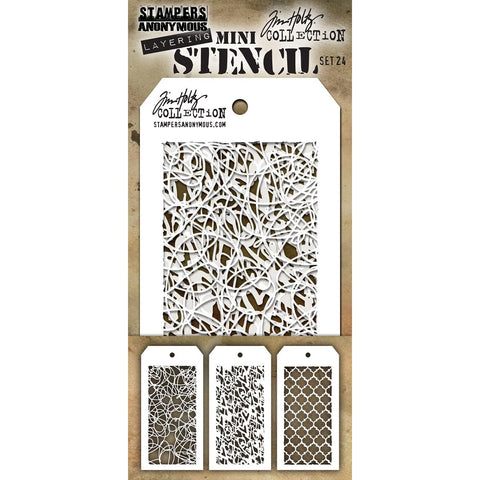Tim Holtz Mini Layered Stencil Set 3pk Set #24