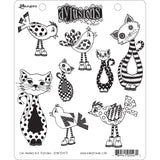 Dyan Reaveley's Dylusions Cling Stamp Collections Cat Among Pigeons 8.5inX7in