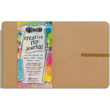 Dyan Reaveley's Dylusions Creative Flip Journal Kraft 8.5inX5.5in