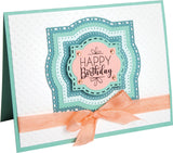 Sizzix Framelits Die and Stamp Set By C Chilson and K Lizardi Layered Labels