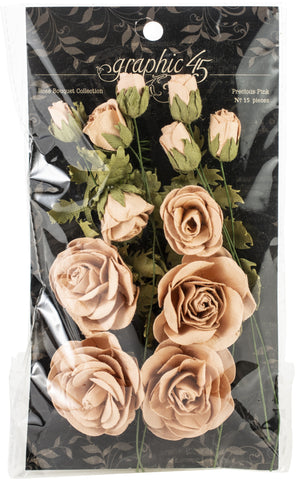 Graphic 45 Staples Rose Bouquet Collection Precious Pink 15pk