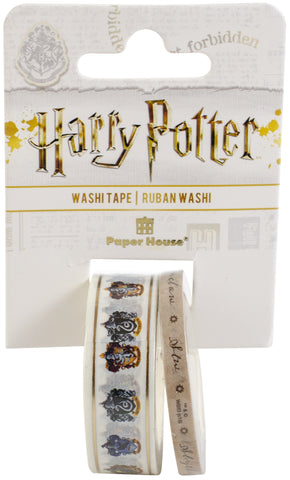Paper House Washi Tape Harry Potter House Crests 2pk