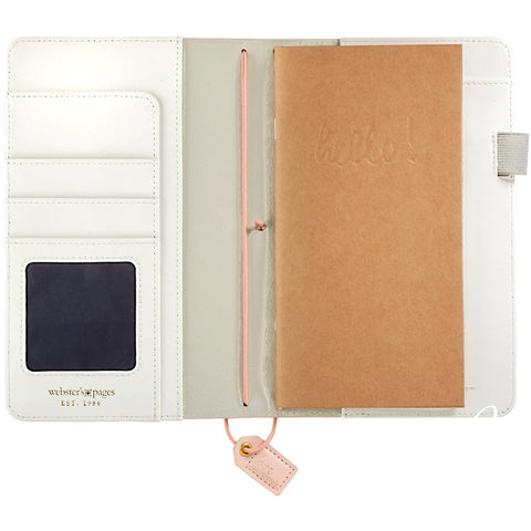 Color Crush Faux Leather Travelers' Planner Blush Stripe 5.25inX8in