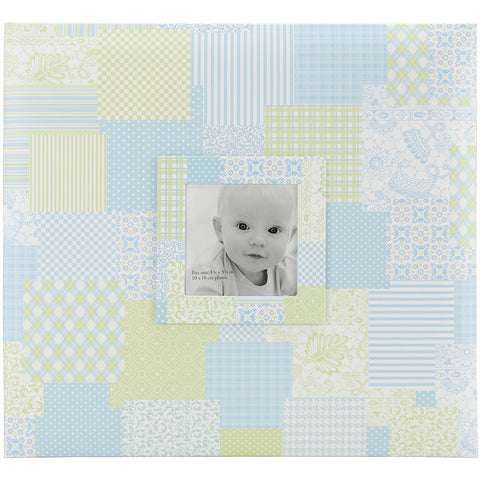 MBI Baby Post Bound Album with Window Blue 12inX12in