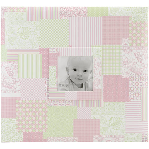 MBI Baby Post Bound Album with Window Pink 12inX12in
