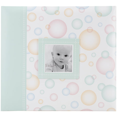 MBI Baby Post Bound Album with Window Bubbles 12inX12in