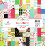 Doodlebug Double-Sided Cardstock Value Pack Seasons 12inX12in 50pk