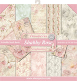 Stamperia Double-Sided Paper Pad Shabby Rose 12inX12in 10pk