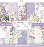 Stamperia Double-Sided Paper Pad Lilac 12inX12in 10pk