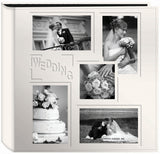 Pioneer 5Up Sewn Embossed Collage Frame Photo Album Ivory 12inx12in