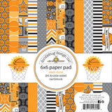 Doodlebug Double Sided Paper Pad Slam Dunk 12 Designs 2 Each 6inX6in 24pk