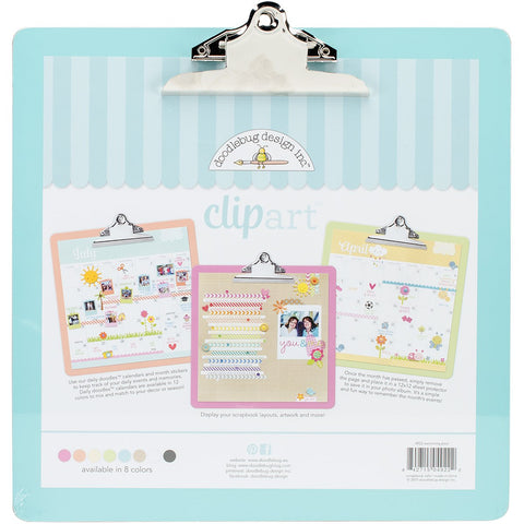 Doodlebug Clipart Monochromatic Clipboard Swimming Pool 13.5inX13.5in