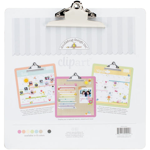 Doodlebug Clipart Monochromatic Clipboard Lily White 13.5inX13.5in