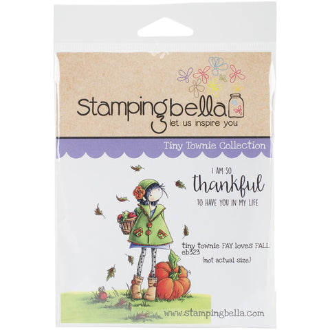 Stamping Bella Cling Stamp Tiny Townie Fay Loves Fall 6.5inX4.5in
