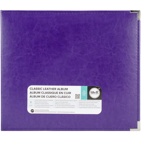 We R Classic Leather D-Ring Album Grape Soda 12inx12in