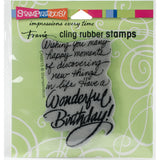 Stampendous Cling Stamp Birthday Wish 3.5inX4in