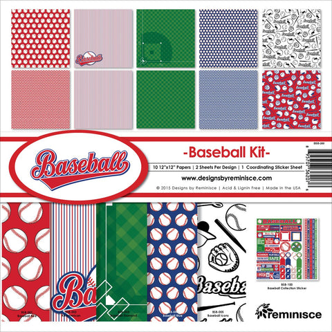 Reminisce Collection Kit Baseball 12inX12in