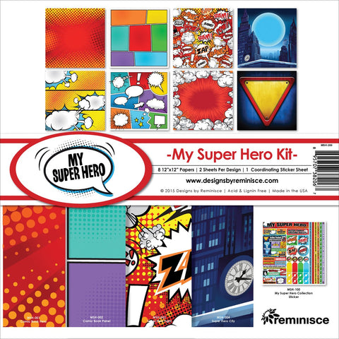 Reminisce Collection Kit My Super Hero 12inX12in