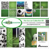 Reminisce Collection Kit Soccer 12inX12in