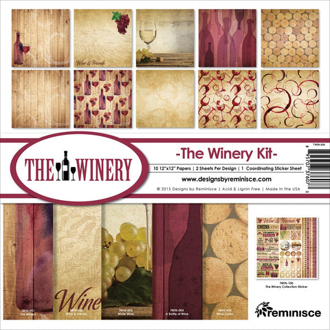 Reminisce Collection Kit Winery 12inX12in