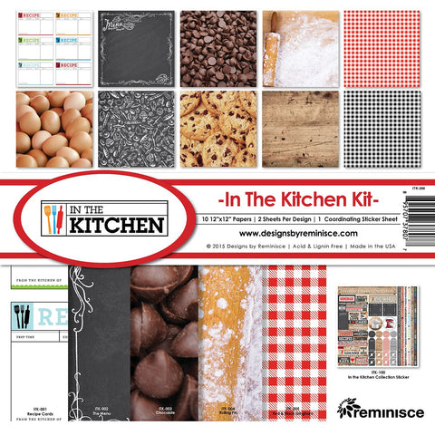 Reminisce Collection Kit In The Kitchen 12inX12in