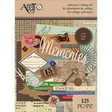 Art C Ephemera Collage Pack Travel 125pk