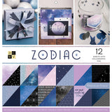DCWV Double-Sided Cardstock Stack Zodiac 12inX12in 36pk