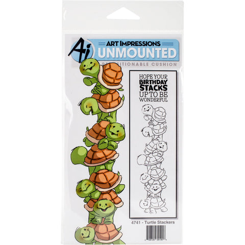 Art Impressions Stackers Cling Rubber Stamp Set Turtle 7inX4in