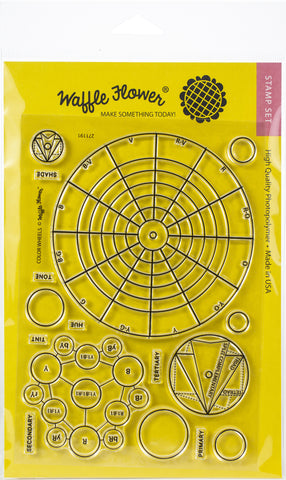 Waffle Flower Crafts Clear Stamp Color Wheels 5inX7in