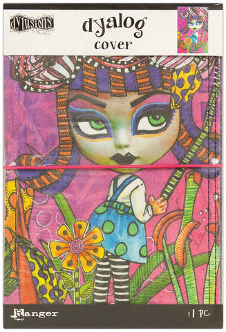 Dyan Reaveley's Dylusions Dyalog Canvas Printed Cover Believe 5inX8in
