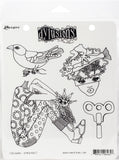 Dyan Reaveley's Dylusions Cling Stamp Collections Clockwork 8.5inX7in