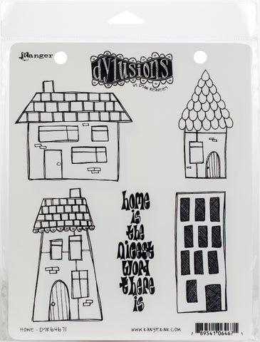 Dyan Reaveley's Dylusions Cling Stamp Collections Home 8.5inX7in