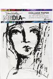 Dina Wakley Media Collage Tissue Paper Faces 7.5inX10in 20pk