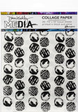 Dina Wakley Media Collage Tissue Paper Backgrounds 7.5inX10in 20pk