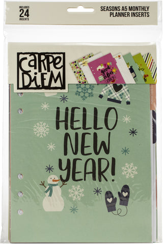 Carpe Diem Seasons Double-Sided A5 Planner Inserts-Monthly Undated