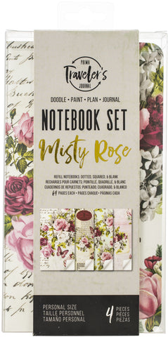 Prima Marketing Traveler's Journal Personal Refill Notebook Misty Rose