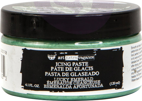 Finnabair Art Extravagance Icing Paste 120ml Jar Lucky Emerald