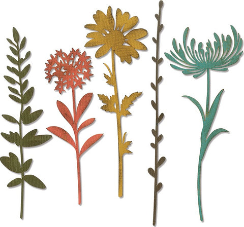 Sizzix Thinlits Dies By Tim Holtz Wildflower Stems 1