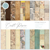 Craft Consortium Double-Sided Paper Pad Vintage Emporium 20 Designs 12inX12in 30pk