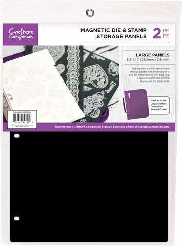 Crafter's Companion Magnetic Storage Panels Large 8.5inX11in 2pk