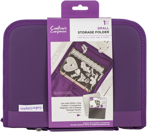 Crafter's Companion Stamp and Die Storage Folder Small Purple