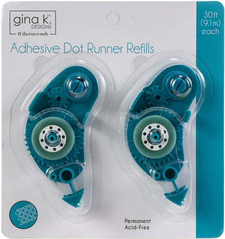 Gina K Designs Adhesive Dot Runner Refill Permanent 30ft 2pk