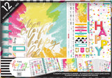 Happy Planner 12-Month Undated Medium Planner Box Kit Colorful Happy