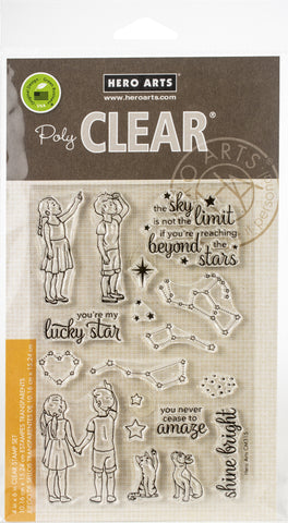 Hero Arts Clear Stamps Lucky Star 4inX6in