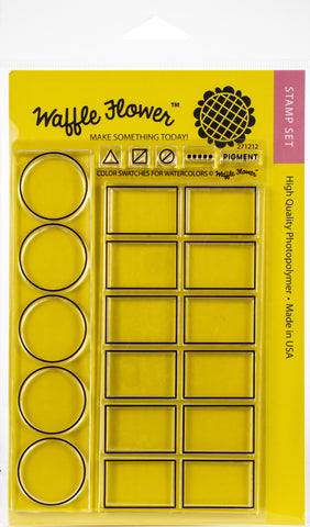 Waffle Flower Crafts Clear Stamps Color Swatches For Watercolors 4inX6in
