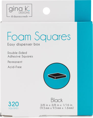 Gina K Designs Foam Squares-Black 320pcs