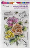 Stampendous Perfectly Clear Stamps Roses Be Happy