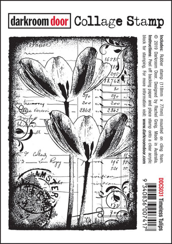 Darkroom Door Cling Stamp Timeless Tulips 4.5inX3in