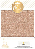 Heidi Swapp Minc Glitter Sheets Rose Gold 6inX8in 4pk