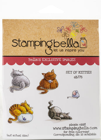 Stamping Bella Cling Stamps Set Of Kittens